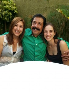 My wife, her father, and sister